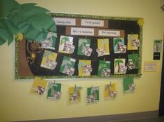 monkey themed classrooms | Here are some fun bulletin boards that I have created over the past 4 ...