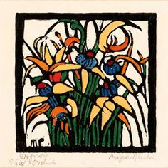 Prints & Graphics - Margaret Rose (MacPherson) Preston - Page 9 - Australian Art Auction Records Australian Wildflowers, Australian Flowers, Margaret Preston, Value In Art, Art Prints, Lino Prints, Block Prints, Aboriginal Art, Australian Artists