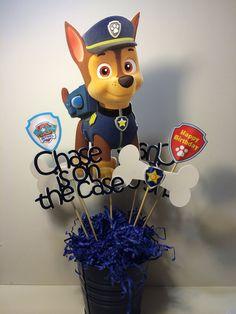 Customized CHASE Paw Patrol centerpiece by myhusbandwearscamo