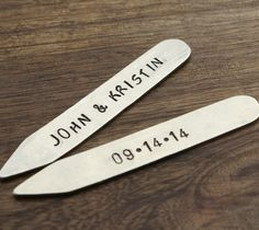 2 Names and Date Collar Stays