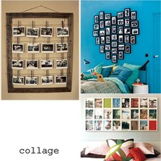 Picture frame idea - but a scrolled frame painted. I have a super large one at home that would work! Michaels has cute clothes pins