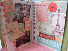 smashbook page- pretty i would just add more journaling