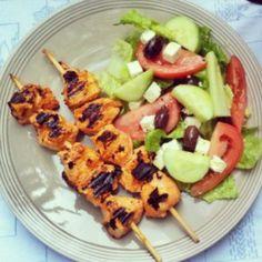 Kebab de pollo con especias tandoori