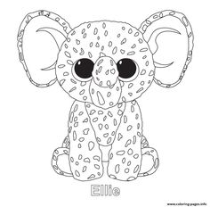 ty big eye coloring pages | Print midnight beanie boo coloring pages | embroidery ...
