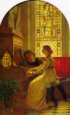 Frank Dicksee (1853-1928)  Harmony  Oil on canvas  c1877  Location unknown