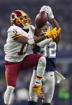 Orlando Scandrick of the Dallas Cowboys breaks up a pass to DeSean Jackson  of the Washington Redskins during their game at ATT Stadium on November 65f9f3805