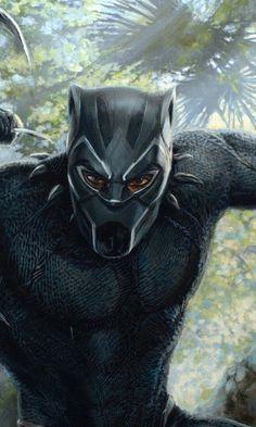 Black panther, superhero, artwork, 480x800 wallpaper