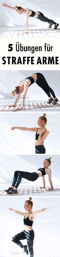 5 Übungen für straffe Arme With these five effective exercises, you'll have beautiful, tight arms in no time. Exercise ball exercises for a tight bodyFor beautiful, tight legs: The Leg ChallengeThe 7 best fitness exercises for women Fitness Workouts, Yoga Fitness, Tips Fitness, Sport Fitness, At Home Workouts, Health Fitness, Muscle Fitness, Workout Cardio, Cardio Yoga