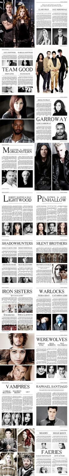 The Mortal Instruments Fanart Magazine<<<< some of the character choices i can agree with others I'm like WHAAA!!!