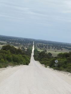 The dusty, straight road