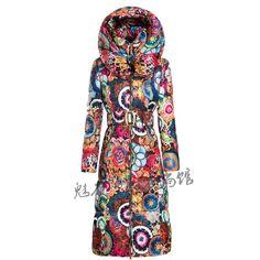 Купить товарПальто Зимние длинные Куртки женщин печати хлопок Тонкий пуховик большой размер толстые теплое пальто в категории Пуховики и паркина AliExpress.       размер длина плечо рукава бюст   СМ дюймовый СМ дюймовый СМ дюймовый СМ дюймовый   м 114 44.88 41 16.14 61 24.02 9