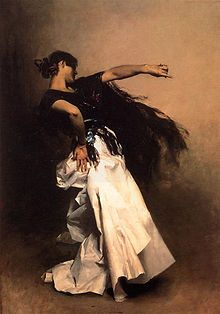 Gysipy Tarantella | Spanish Dancer , 1879-82. A preparatory oil study for the main figure ...