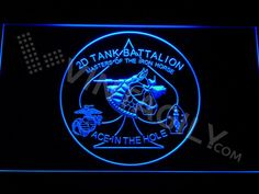 2nd Tank Battalion LED Sign