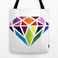 Diamond tote bag by Bridget Davidson