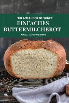 Dieses tolle Buttermilchbrot können selbst Anfänger in der Küche backen! Es enthält Hefe und Buttermilch und bekommt eine tolle Kruste. Außen knusprig und innen weich. Herrlich! Wenn du ein Rezept für ein einfach Brot suchst, hast du es gefunden! ➡ Du hast das Brot ausprobiert? Dann hinterlasse mir doch einen Kommentar oder ein Herzchen, ich freue mich. ❤