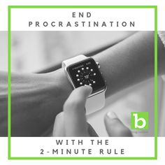 Do you need to write, but find yourself procrastinating? Try the rule to end your bad habits forever! Writer's Block, Bad Habits, Apple Watch, Finding Yourself