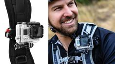 Attach a GoPro to Your Backpack Strap with This Simple Mount Gopro Diy, Gopro Drone, Gopro Camera, Camera Gear, Drones, Video Camera, Camera Backpack, Backpack Straps, Phone Photography