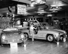 Mercedes 300SL at Eagle Mountain 1957
