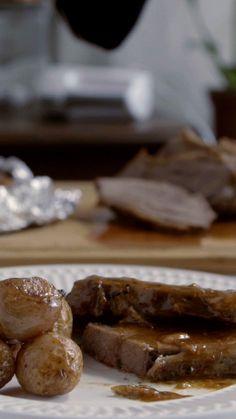 Essa carne assada é uma delícia.