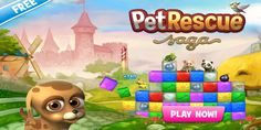 Another game in the Saga series from King, the creators of Candy Crush and Farm Heroes saga, Pet Rescue Saga! This game is not a copy of Candy Crush or Farm Heroes. This game is more of a bubble breaker type of game where you clear similar colors in quantities of two or more to rescue the adorable pets.