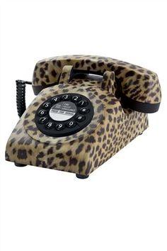 Leopard Print Telephone
