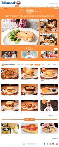 http://www.tillamook.com/kitchen/index.html  Amarelinha Font