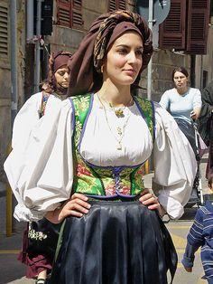 Traditional Costume of Laconi, Sardinia