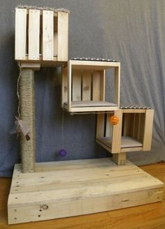 The Kitten Cubes are built for kittens or small cats. Built with health and fun in mind, this handmade scratch post will look great anywhere. #CatFondo