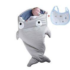 Frbelle® - Sacco-nanna per passeggino, motivo: squalo, 0-36 mesi, inverno/primavera, 73 x 98 cm