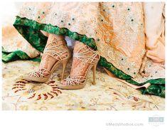 Oakland Rotunda Wedding - bride putting on her Jimmy Choo shoes | http://UMeUsStudios.com