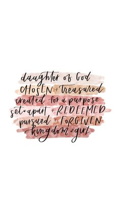 daughter of God. Bible Verses Quotes Inspirational, Scripture Quotes, Faith Quotes, Scriptures, Short Bible Verses, Best Jesus Quotes, Bible Wuotes, Positive Bible Verses, God Is Good Quotes