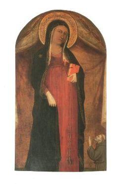 Maestro di S. Martino alla Palma (1320-1335) -  Madonna del parto con S Francesco - Firenze, S. Maria in Campo