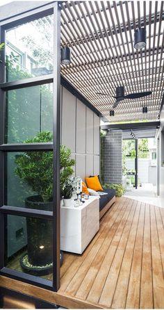Backyard Garden Design, Balcony Design, Patio Design, Exterior Design, Interior And Exterior, House Design, Dirty Kitchen Design, Outdoor Kitchen Design, Terrace Decor