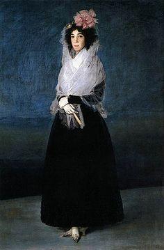 1794-1795 Marquesa de la Solana by Francisco José de Goya y Lucientes (Louvre)