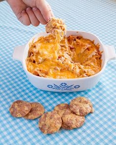 White Bean Ranch, Bacon & Cheddar Dip With Breton Popped! Beans Cracker Chips  - The Kitchen Magpie