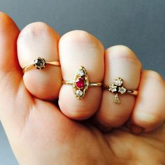 RARE Victorian trefoil or clover mine cut diamond by LeolaRevives
