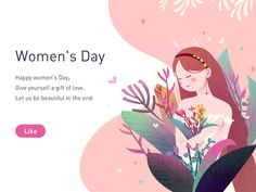 Women's Day designed by Mina FZ. for Queble. Connect with them on Dribbble; Happy Girls Day, Happy Woman Day, Happy Women, Illustration Art Drawing, Woman Illustration, Character Illustration, Illustrator Video, International Womens Day Poster, 8th Of March