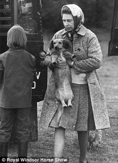 Royal Windsor Horse Show.Gone to the dogs picture It's and those other much-loved royal animals, the corgis, are pictured in attendance Hm The Queen, Her Majesty The Queen, Save The Queen, King Queen, Royal Animals, Prinz Philip, Edinburgh, Queen Elizabeth Ii, Queen Elizabeth