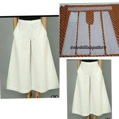 """Jasa Membuat Pola Pakaian on Instagram: """"Basic cullote pants pattern . . Line : @modelliste (with @) . .  #modellistepattern #patternonlineshop #pdfpattern #patternclothing…"""", Görüntünün olası içeriği: yazı...,  #Basic #calças #cullote Skirt Patterns Sewing, Sewing Patterns Free, Clothing Patterns, Shirt Patterns, Pattern Sewing, Pattern Drafting Tutorials, Coat Patterns, Sewing Pants, Sewing Clothes"""