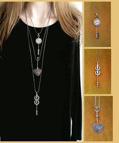 Long necklace boho necklace Boho jewelry bohemian jewelry