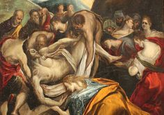 """El entierro de Cristo"" de El Greco (1541-1614) Esta pintura fue realizada en 1570 Republic Of Venice, Francesca Woodman, Creta, Old And New Testament, Byzantine Art, Spanish Painters, Famous Words, Italian Art, Renaissance Art"