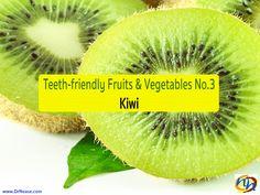 TEETH-FRIENDLY FRUITS & VEGETABLES NO. 3: KIWI Dr Nease Orthodontics 2455 E. Main Street Spartanburg, SC 29307 (864) 579-7700  #teeth-friendly #fruits #kiwi #NeaseOrthodontics