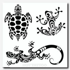 tribal designs- turtle, frog, lizard More tattoo designs 2019 - Tattoo designs - Dessins de tatouage Maori Tattoos, Tribal Tattoos, Tattoos Bein, Tribal Armband Tattoo, Armband Tattoos, Hawaiianisches Tattoo, Frog Tattoos, Hand Tattoo, Bild Tattoos
