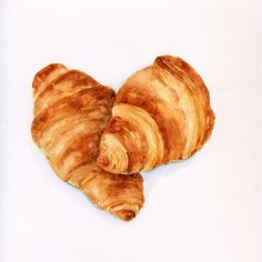 Classic Croissants   ORIGINAL Painting Desset por ForestSpiritArt