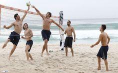 #Italianos se preparan jugando #voley playa en #CopaConfederaciones