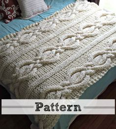 ***This listing is for the PATTERN ONLY – NOT THE FINISHED PRODUCT***  If you would like the finished product it is available here: https://www.etsy.com/listing/189507343/twisted-cable-knit-blanket-100-wool?  This chunky blanket would make the perfect addition to any room of the house! Skills needed are Knit, Purl and Cabling. Measurements are approximately 46 x 66 inches. Materials needed: *Approximately 1500 to 1600 yards of Cascade Lana Grande yarn (or) any #6 supe...