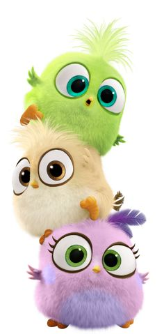 Baby Birds - Tap to see more cute cartoon wallpapers!