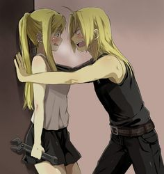 Edward Elric and Winry Rockbell.