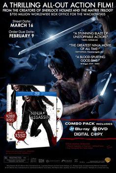 Ninja Assassin released in the U.S.