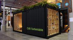 CMD #Sustentable Sobre la estructura de un container que perdió su vida útil, se pensó un espacio de trabajo único para 4 personas.   Más info y fotos en